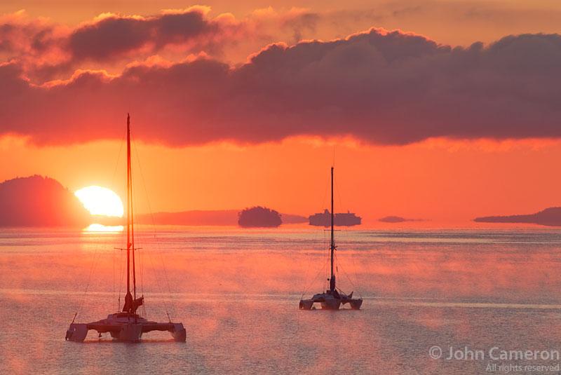 ganges harbour sunrise