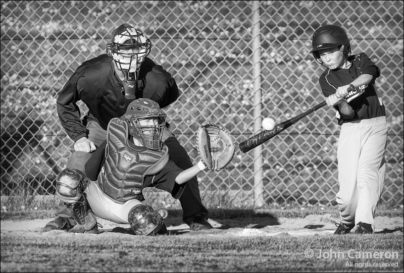 Salt Spring Baseball in black and white