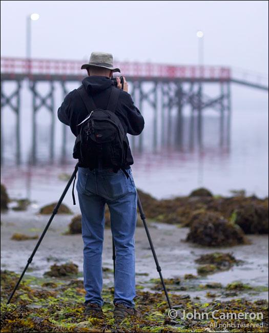 Larry Lindal at Fernwood Dock, Salt Spring Island
