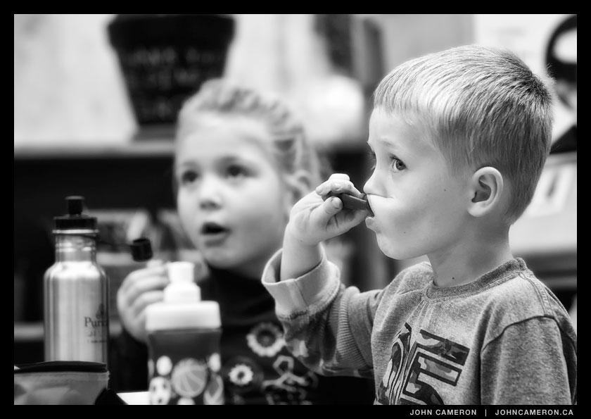 Snack time in the Kindergarten