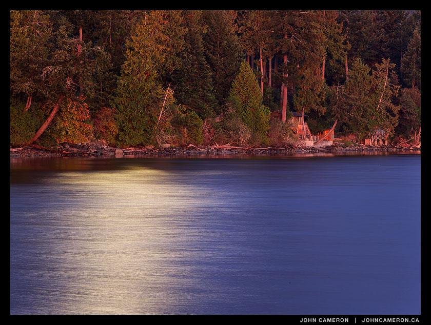 Moonlight on the ocean at Fernwood
