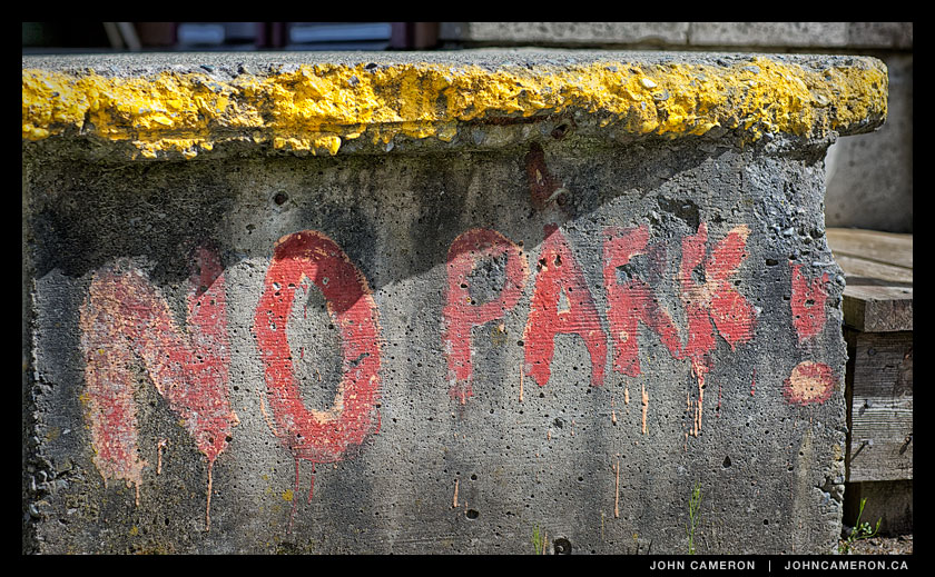 No Parking sign in Ganges