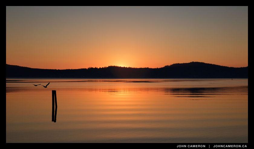 July sunrise at Salt Spring Island