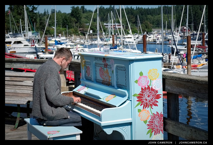 piano on salt spring waterfront