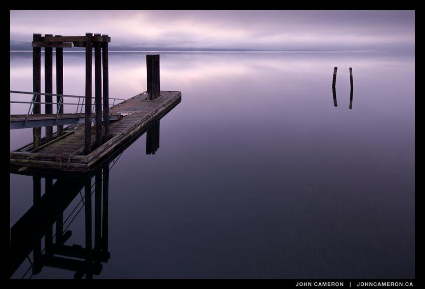 a moody morning at Fernwood Dock