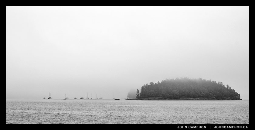 Fog at Russell Island