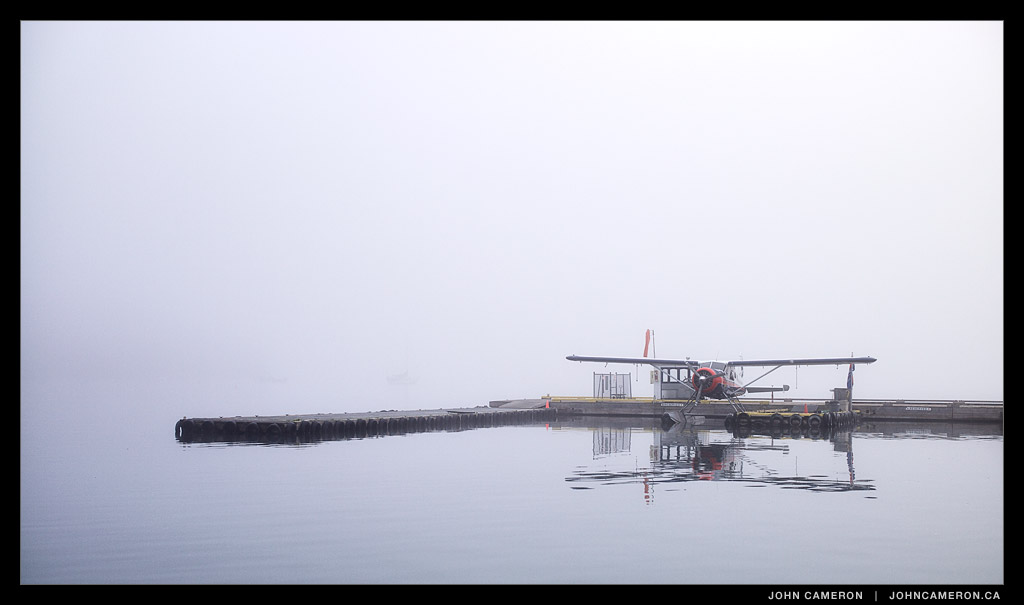 Fog at the Ganges Seaplane Dock