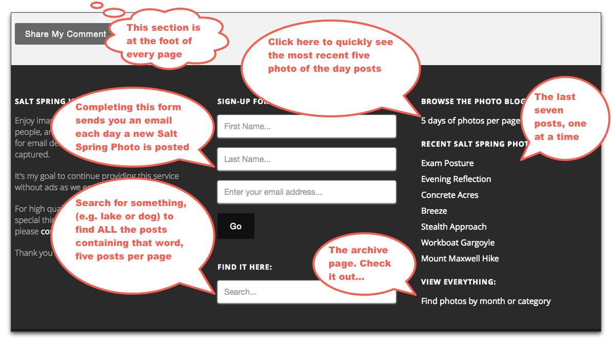 footer explanation