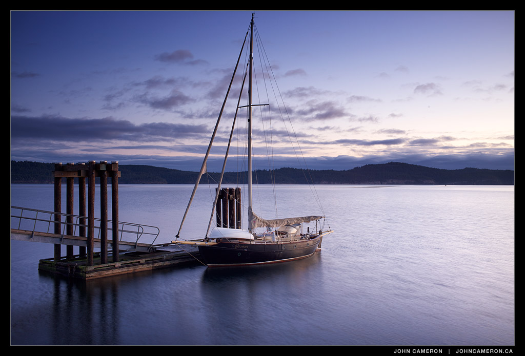 Winter cruising sailboat overnights at Fernwood Dock