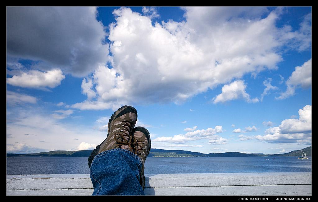 Feet at the Salt Spring Ferry