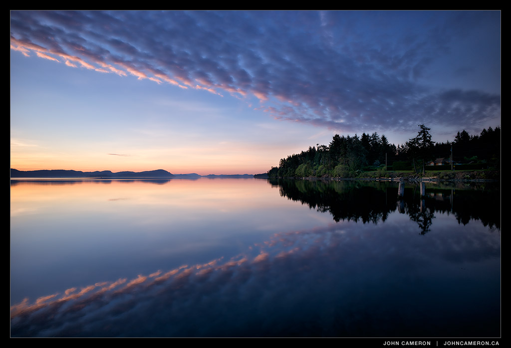 Clouds at Dawn on Salt Spring Island