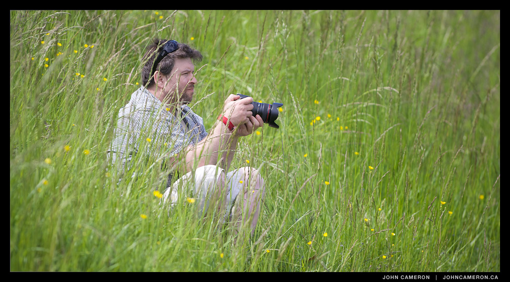 Photog in the Grass