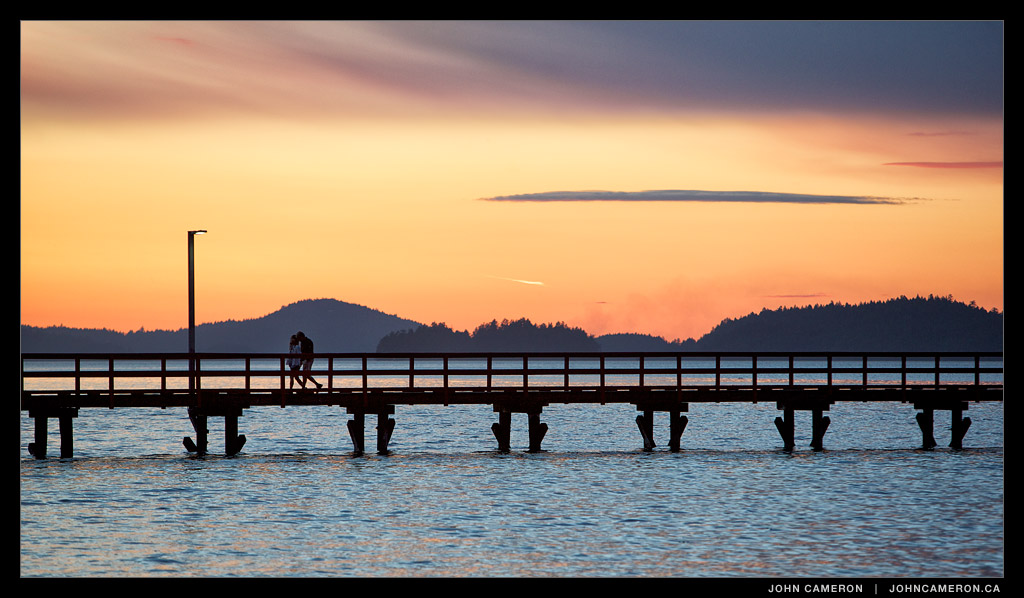 Sunset at Fernwood Pier, Salt Spring Island