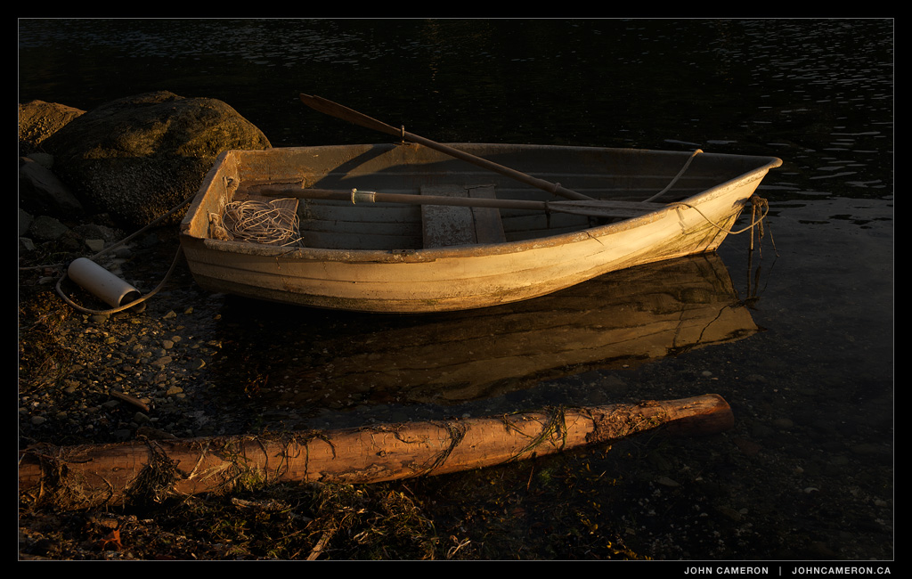 Dinghy at Last Light