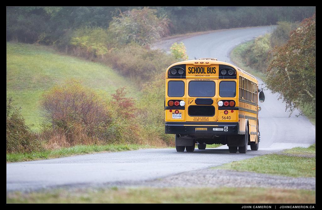 Morning School Bus on Salt Spring Island