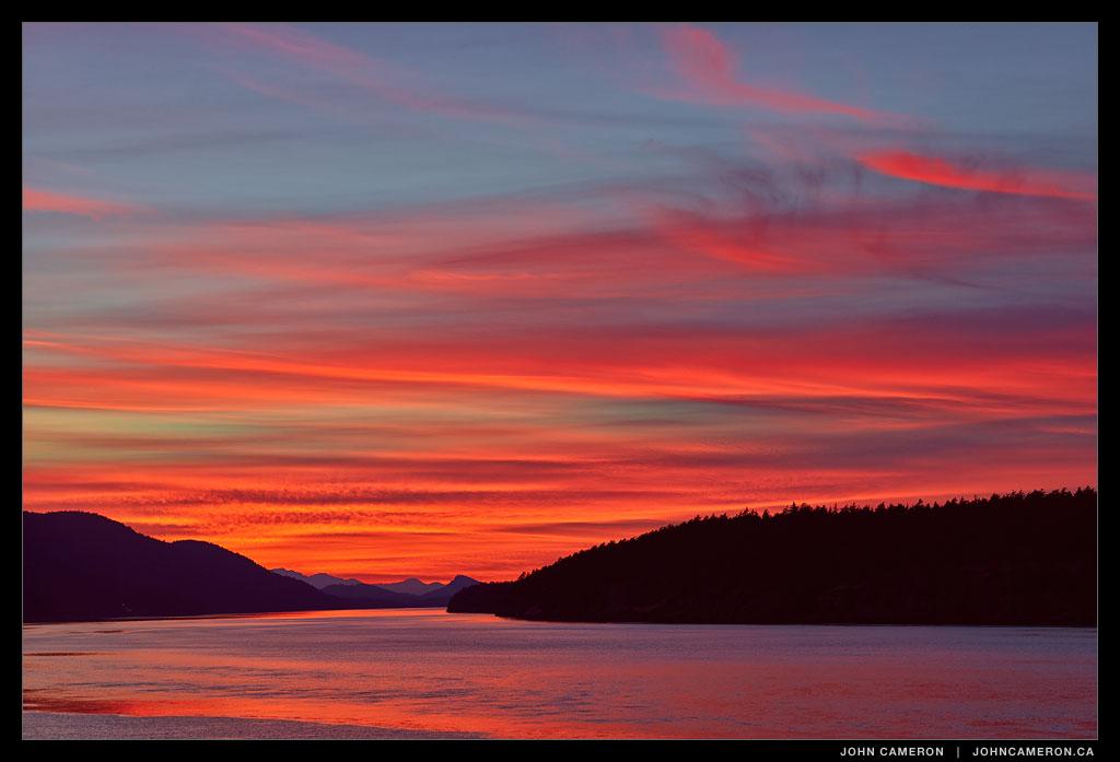 East Point Sunset, Saturna 20140908