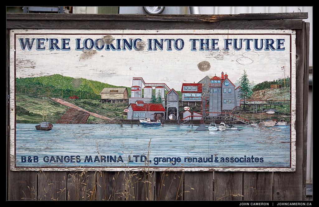 Sign in Ganges