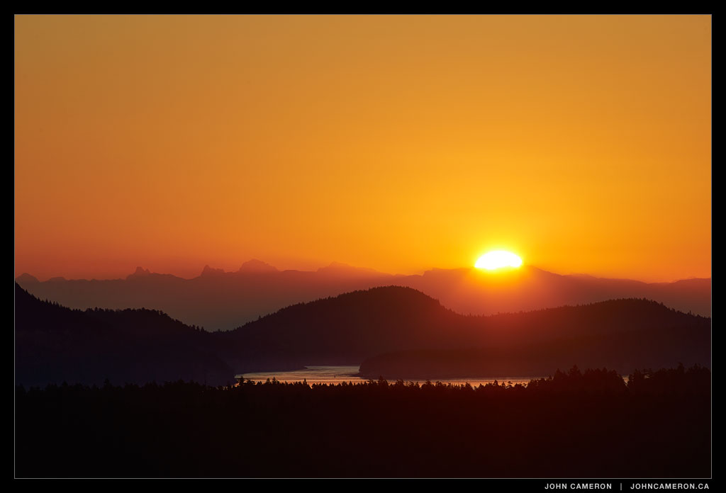 Golden Salt Spring Island Sunrise