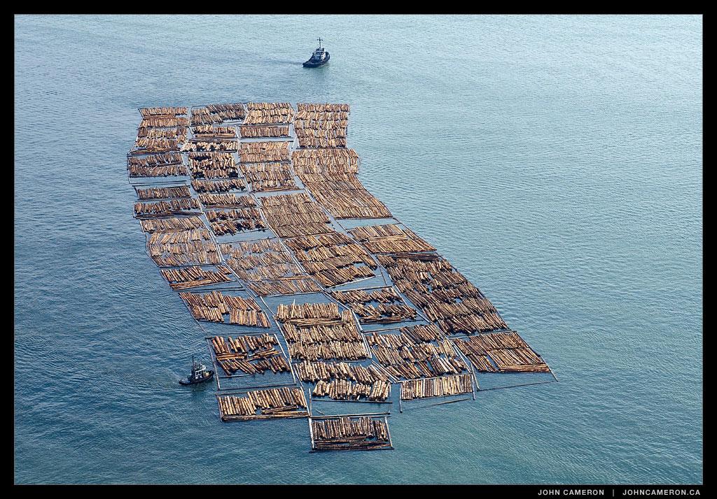Log Boom in Georgia Strait