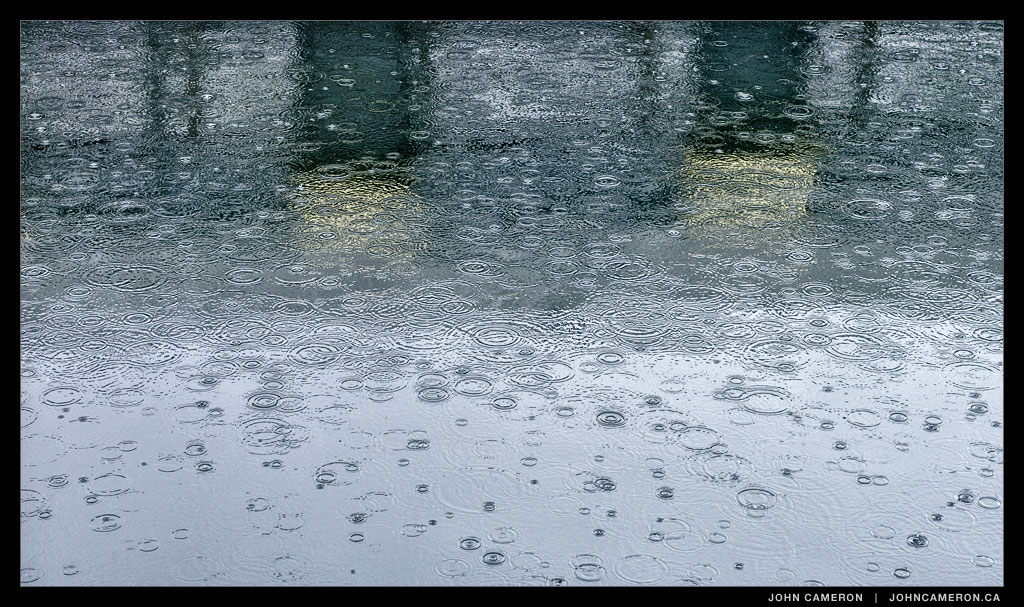 Raindrops in Ganges on Salt Spring Island