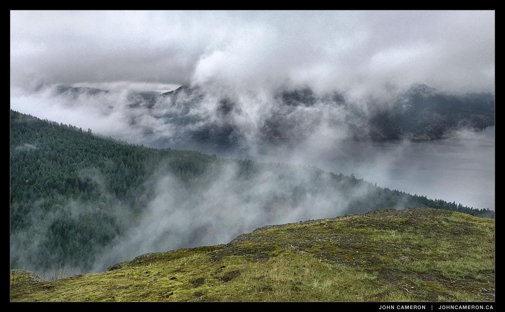 Sansum Narrows from Mount Erskine