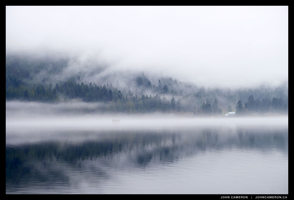 Fog on St. Mary Lake, Salt Spring Island