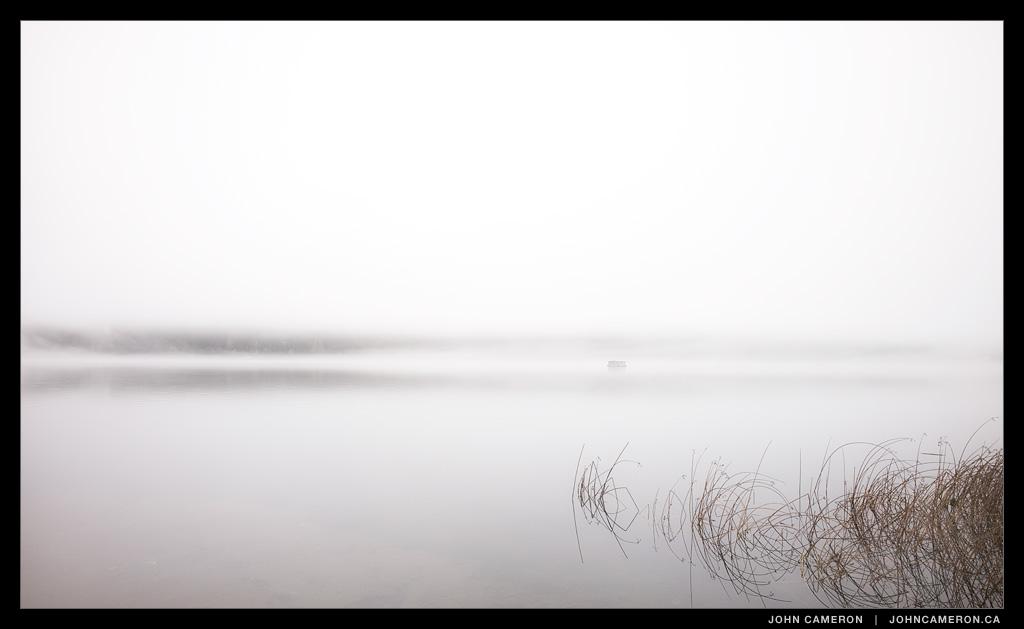 St. Mary Lake Aerator in Fog