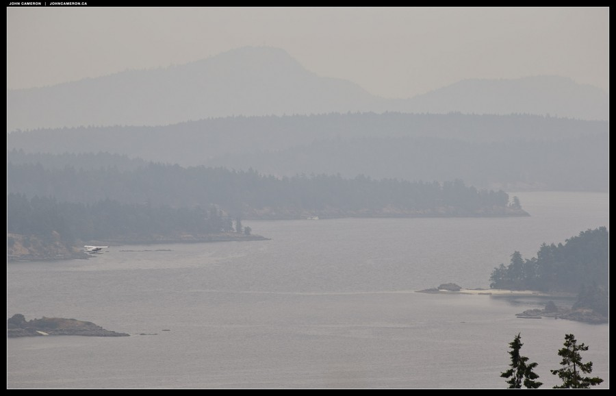 Float plane ventures into Wildfire Smoke