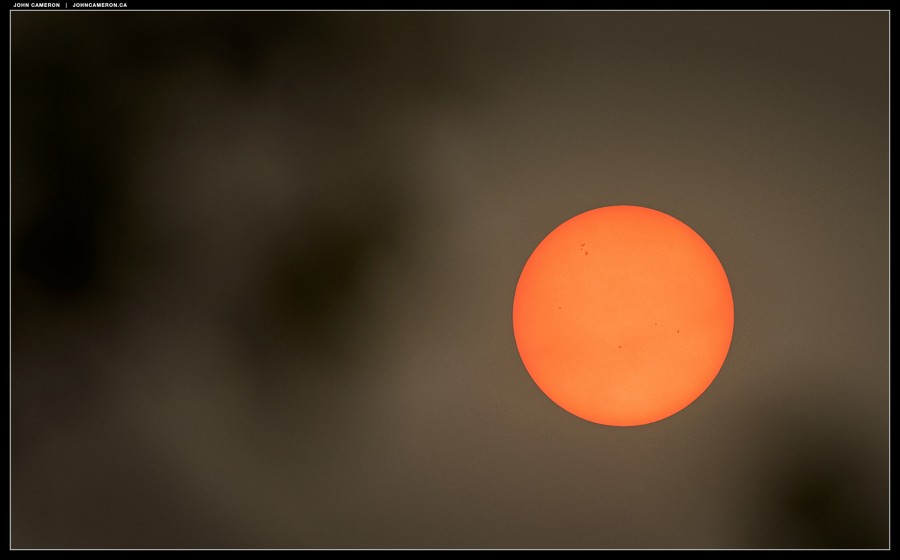 Sun and sky during wildfire season