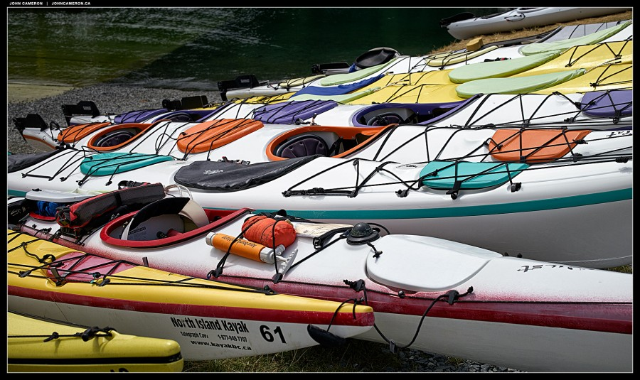 Kayaks at Telegraph Cove
