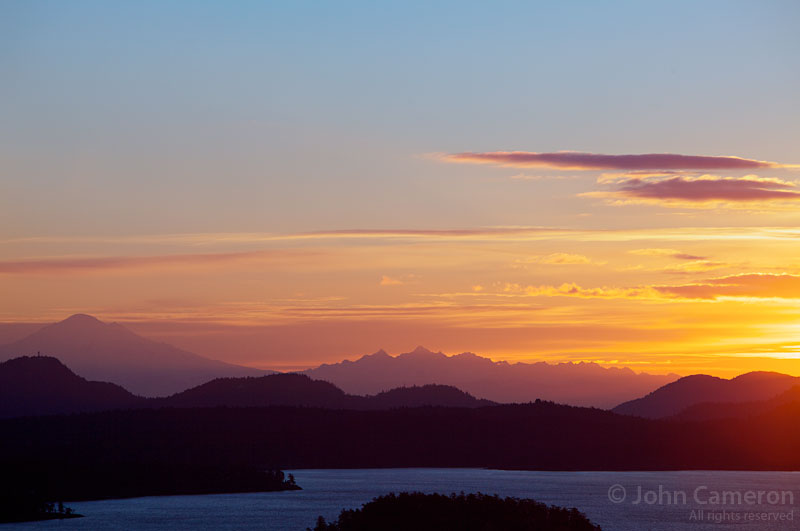 photo of saltspring sunrise