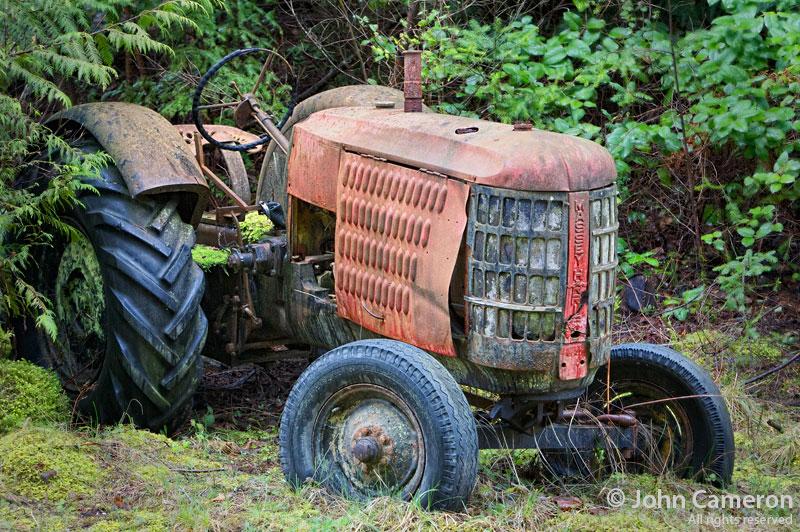 massey-harris tractor on salt spring island