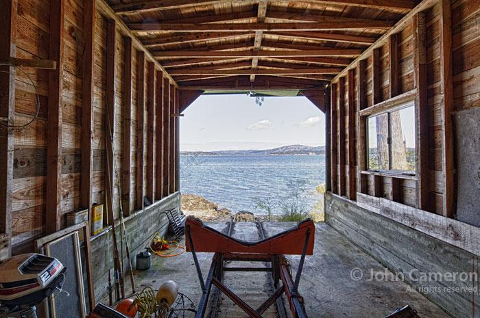 Salt Spring boathouse