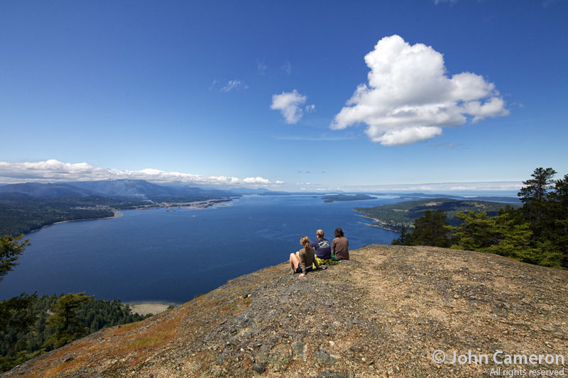 Hikers on Mount Erskine, Salt Spring Island