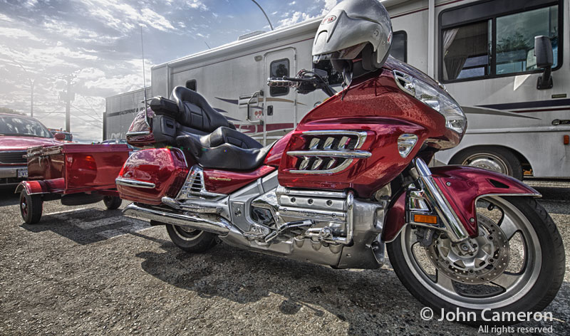 honda gold wing motorcycle at Fulford ferry