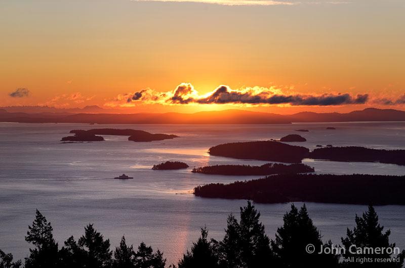 December Sunrise over the Gulf Islands