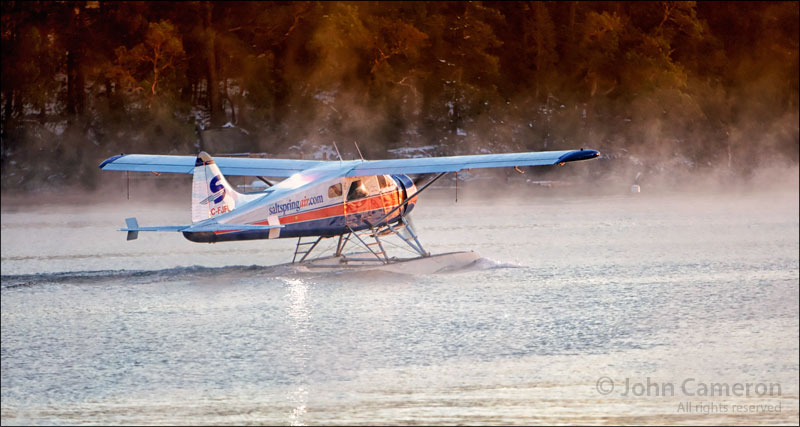 Frosty Morning with Beaver Floatplane