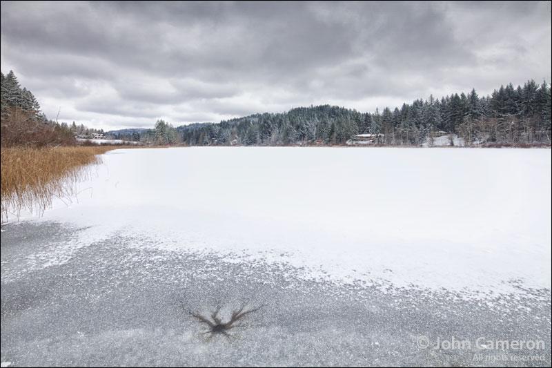 Frozen Salt Spring Lake 2012