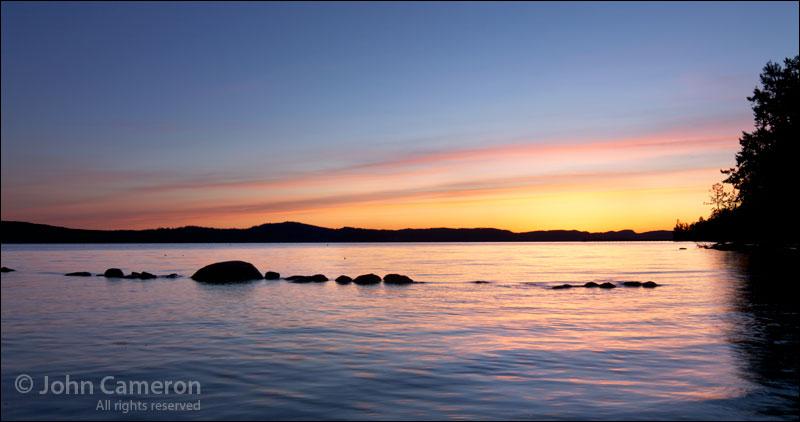 Trincomali Channel pre-dawn sky