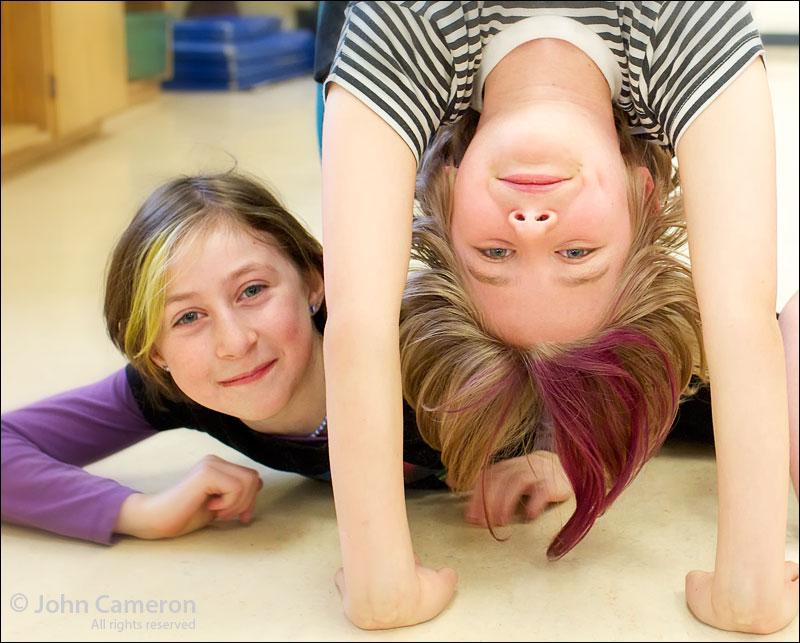 Dance class at Salt Spring Elementary