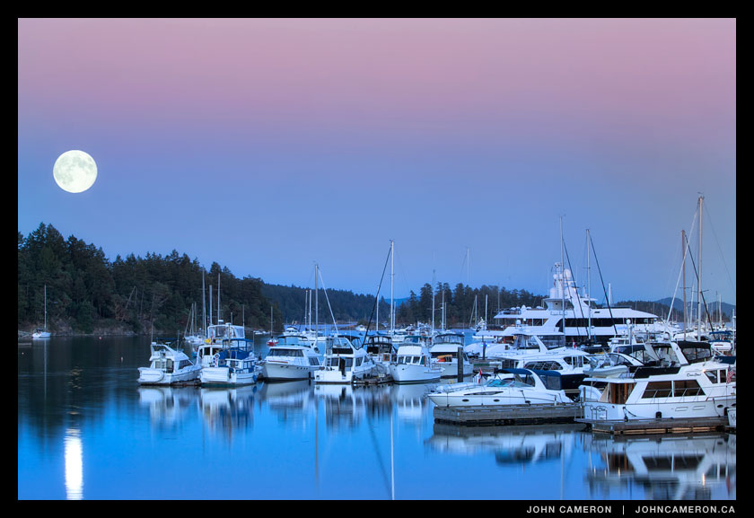 Blue Moon over Salt Spring Island