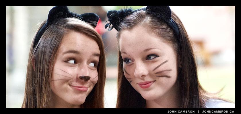 Halloween pair at Gulf Islands Secondary