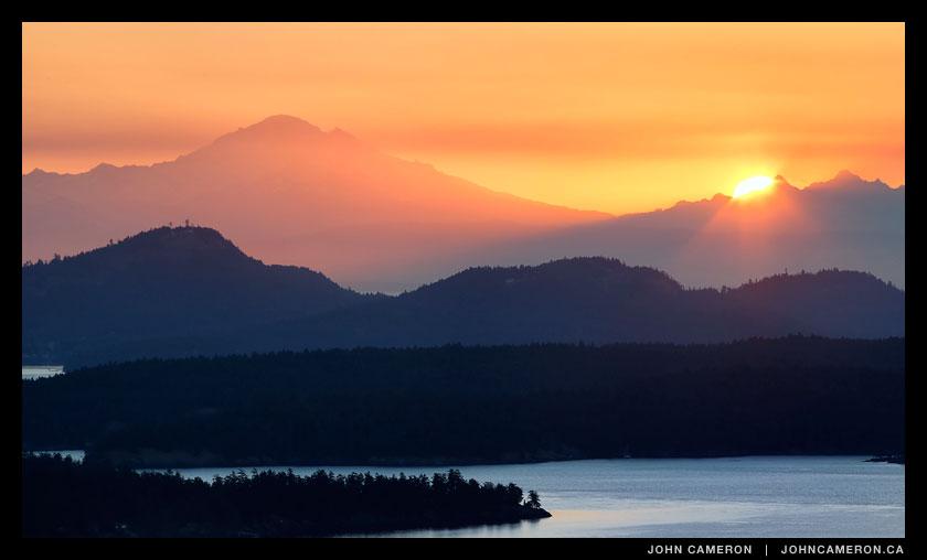 Autumn Sunrise on Salt Spring Island