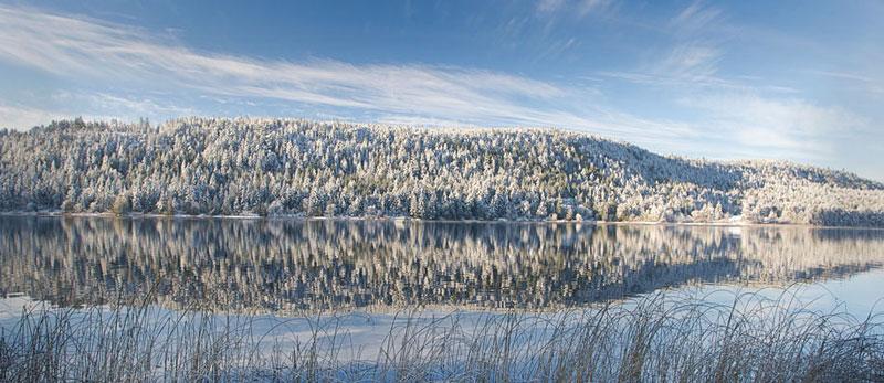 Christmas Snow on St. Mary Lake