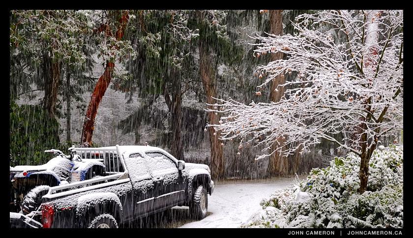 White Christmas on Salt Spring