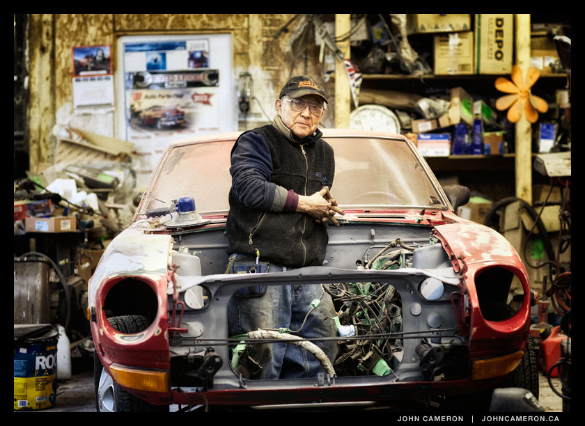 Richard Murakami in the Shop