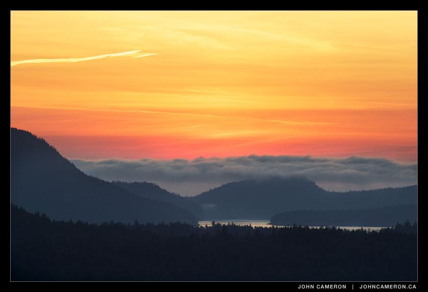 Twilight at Active Pass