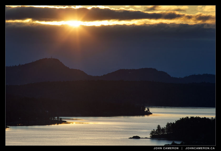 March Sunrise from Salt Spring Island