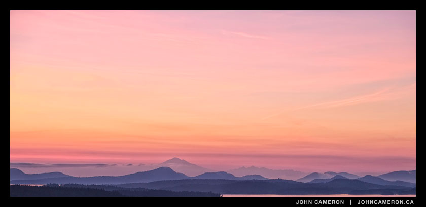 Salt Spring Twilight Panorama