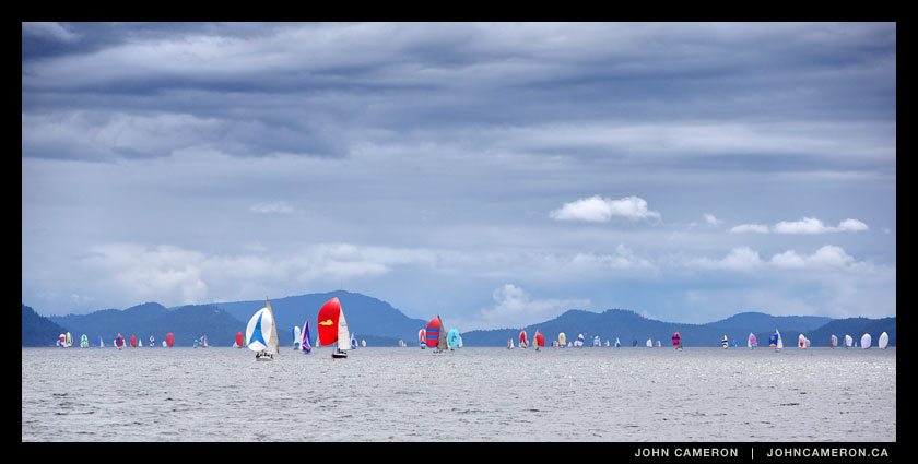 Second wave of spinnakers on Trincomali Channel